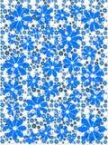 Błękitny kwiatu wzór Obraz Stock