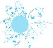 błękitny kwiecista rama Zdjęcie Royalty Free
