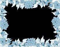 błękitny kwiecista rama Obrazy Royalty Free