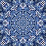 Błękitny kwiecisty lód płytki mandala projekt w rosjanina stylu, tatuażowy wizerunek Zdjęcia Stock