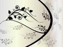 błękitny kwiecisty ornament Obraz Royalty Free