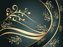 błękitny kwiecisty ornament Zdjęcie Royalty Free