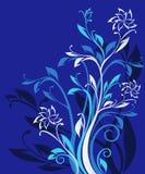 błękitny kwiecisty ozdobny wzór Zdjęcia Stock