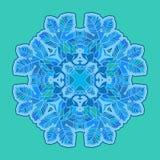 Błękitny kwiecisty zdobny okrąg Obraz Stock
