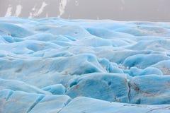 Błękitny lód Skaftafellsjokull lodowiec Iceland Obraz Royalty Free
