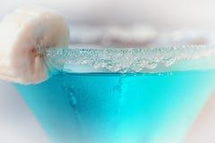 Błękitny laguna koktajl w szkle fotografia royalty free