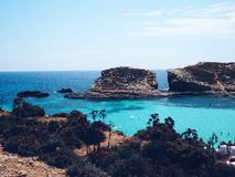 błękitny laguna Malta zdjęcie stock