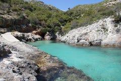 błękitny laguna Zakynthos Zdjęcie Stock