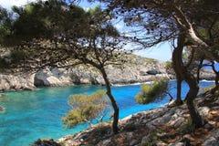błękitny laguna Zakynthos Obraz Stock