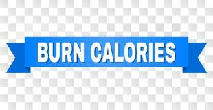 Błękitny lampas z oparzenie kalorii tekstem ilustracja wektor