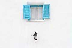 błękitny lampowy okno Zdjęcie Royalty Free