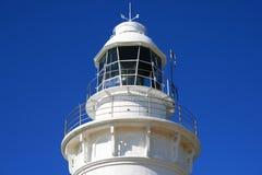 błękitny latarni morskiej nieba odgórny biel Zdjęcia Stock