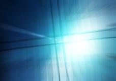 Błękitny Lekkiej fala abstrakta tło Obraz Stock