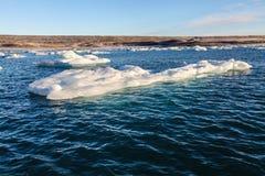 Błękitny lodowa lód, góra lodowa, Jokulsarlon laguna, Iceland Zdjęcie Stock