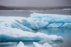błękitny lodowa lodu Iceland j kuls laguny n rl Fotografia Royalty Free