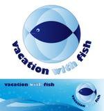 błękitny logo Zdjęcie Royalty Free