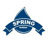 błękitny logo Etykietka dla wody mineralnej aqua ikony Zdjęcia Stock