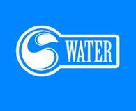 błękitny logo Etykietka dla wody mineralnej aqua ikony Obrazy Stock