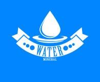 błękitny logo Etykietka dla wody mineralnej aqua ikony Obraz Stock