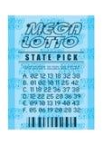 błękitny loteryjny bilet Zdjęcie Stock