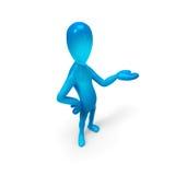błękitny mężczyzna Zdjęcie Royalty Free