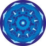 błękitny mandala Zdjęcie Royalty Free
