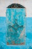 Błękitny marokańczyka stylu drzwi Zdjęcie Stock