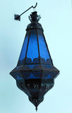 Błękitny marokańska lampa Zdjęcie Stock