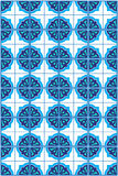 Błękitny Marokański mozaiki płytki wzór Zdjęcie Royalty Free