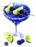 Błękitny marznący koktajl ilustracji