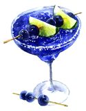 Błękitny marznący koktajl royalty ilustracja