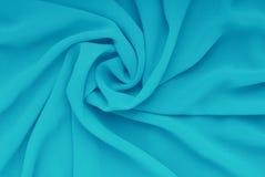 Błękitny materiał, draperia szyfon Obraz Royalty Free