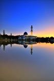 Błękitny meczet podczas wschodu słońca Obraz Stock