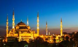 Błękitny meczet w Istanbuł, z zmierzchem obraz stock