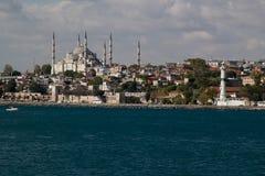 błękitny meczet widzii widok Zdjęcie Stock