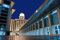 Błękitny meczetowy Jakarta obrazy stock
