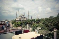 błękitny meczetowy sultanahmet Fotografia Stock