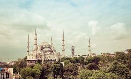 błękitny meczetowy sultanahmet Obrazy Royalty Free