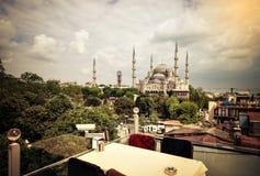 błękitny meczetowy sultanahmet Obraz Stock