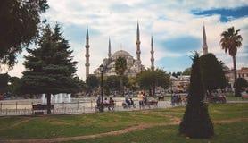 Błękitny Meczetowy Sultanahmet w Istanbuł Obrazy Stock