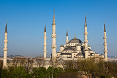 błękitny meczetowy widok Obrazy Royalty Free