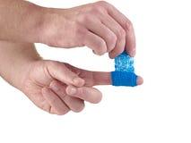 Błękitny Medyczny opakunek zdjęcia stock