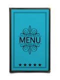 błękitny menu Fotografia Stock