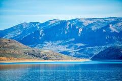 Błękitny mesa rezerwuar w gunnison lesie państwowym Colorado fotografia stock