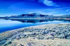 Błękitny mesa rezerwuar w gunnison lesie państwowym Colorado obraz stock