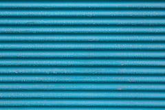 Błękitny metal Gofrujący - deskowej tekstury koloru turkusowy tło Zdjęcie Stock