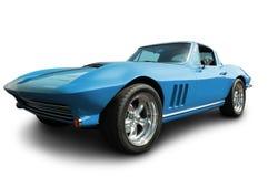 Błękitny mięśnia samochód odizolowywający na bielu Obrazy Stock