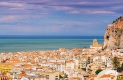błękitny miasta morza cienie Obrazy Stock
