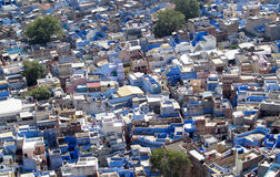 Błękitny miasto w Jodhpur, Rajasthan, India, widok od wierzchołka Zdjęcie Stock