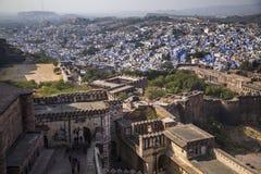 - Błękitny miasto - Widok od Mehrangarh fortu Zdjęcia Royalty Free